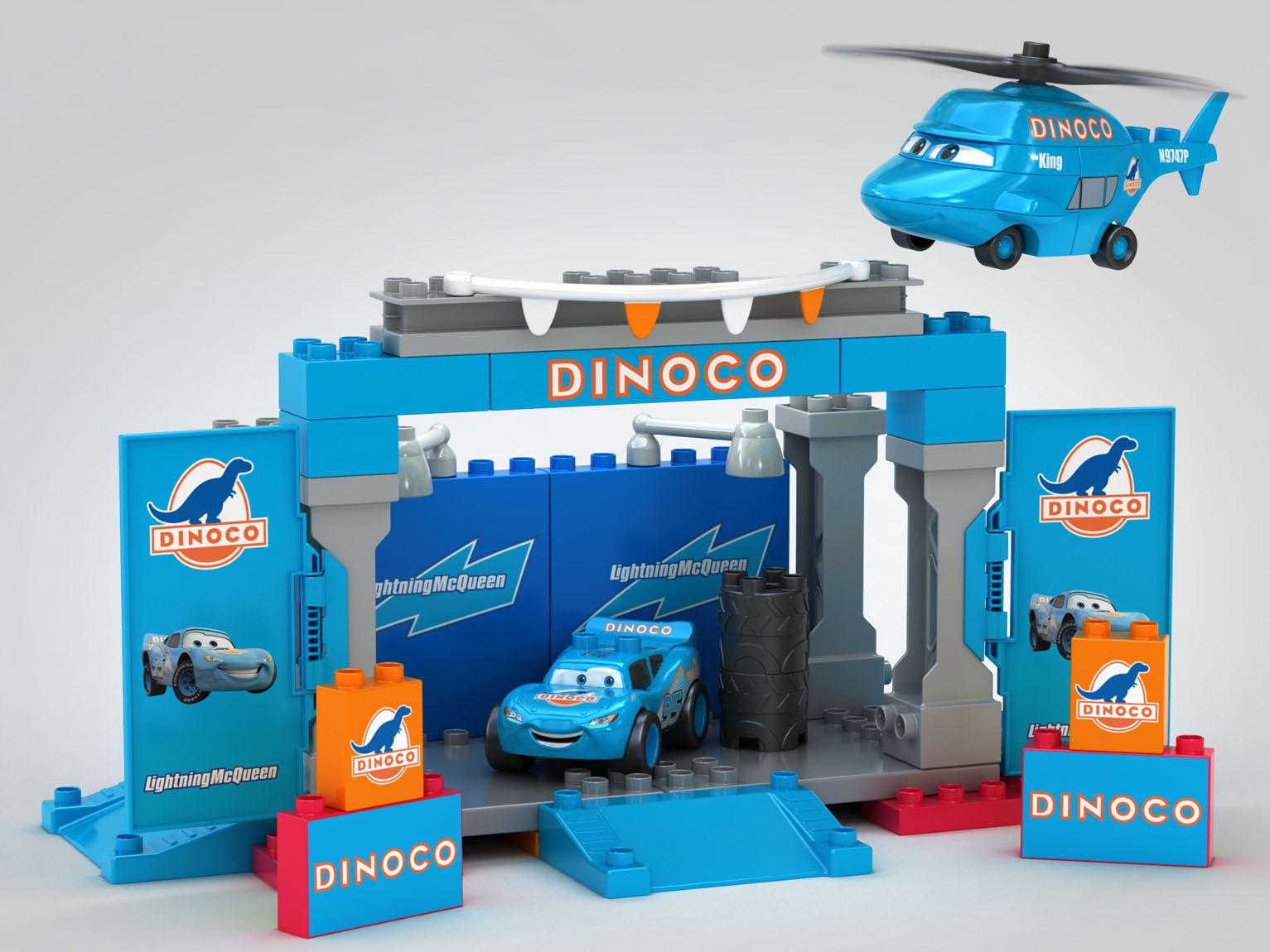 Dinoco Cars Set