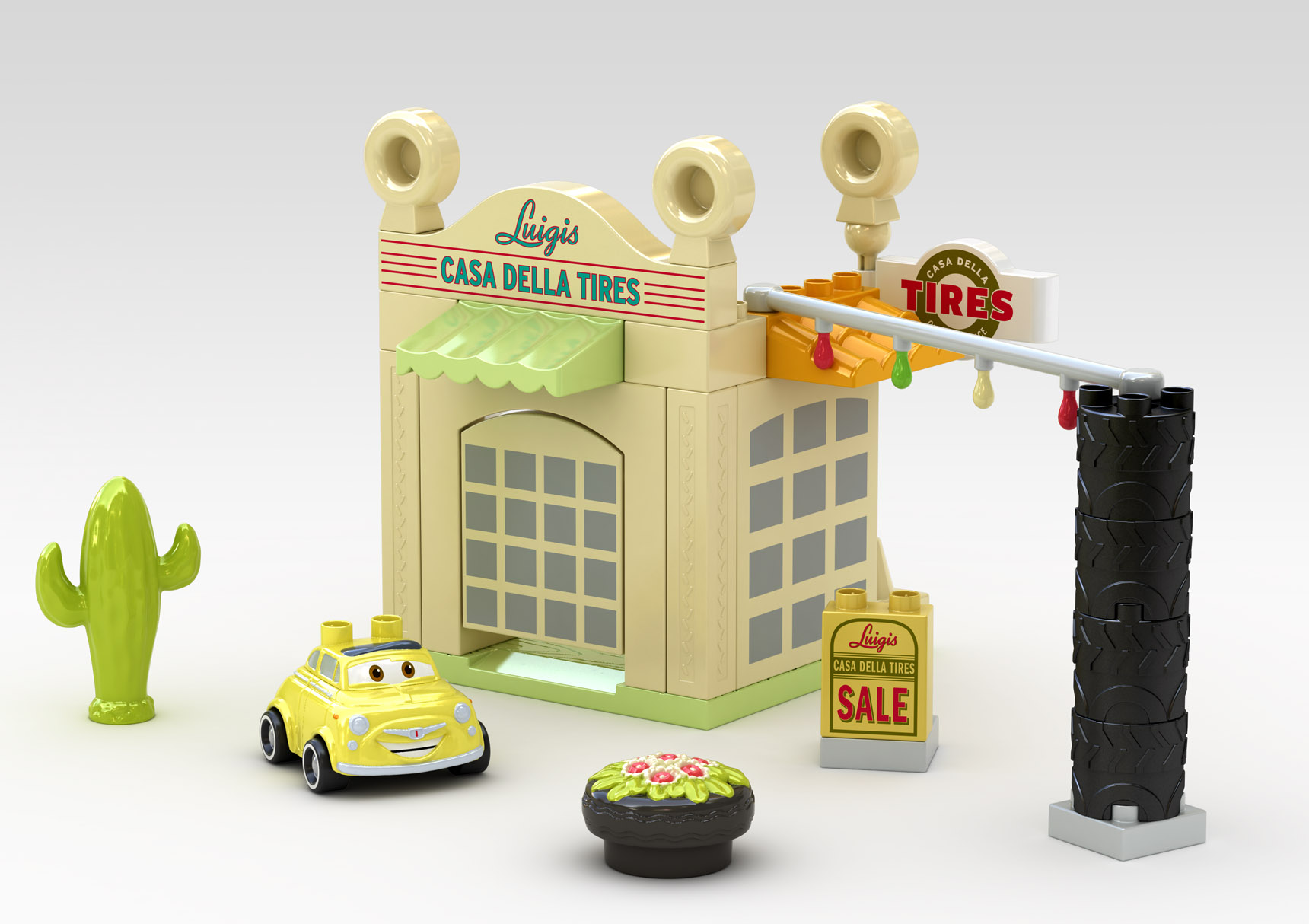 Luigi's Garage Cars Set