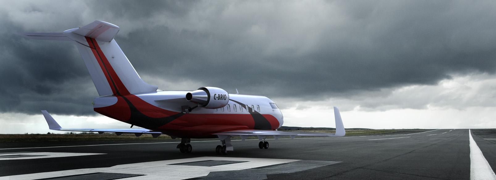 Bombardier Challenger Rendering